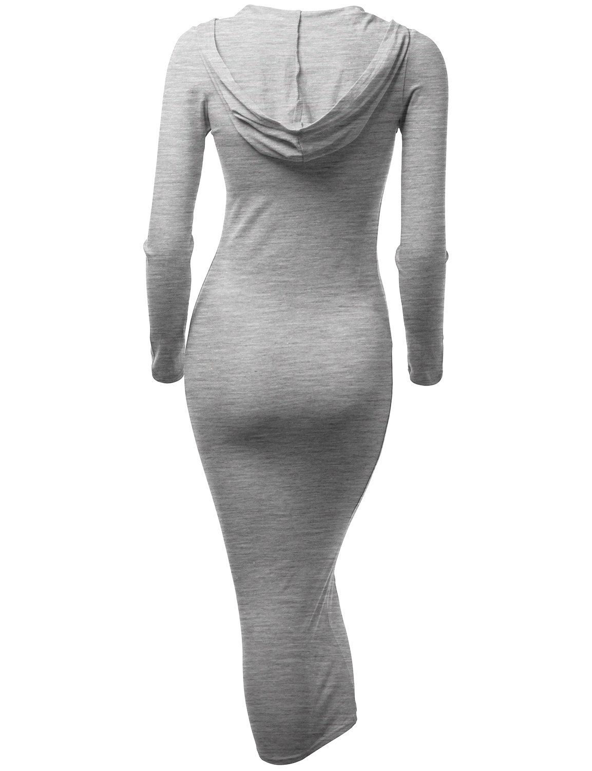 Doublju Fitted Dress With Sexy Side Zipper Point For Women With Plus Size GRAY MEDIUM by Doublju (Image #3)