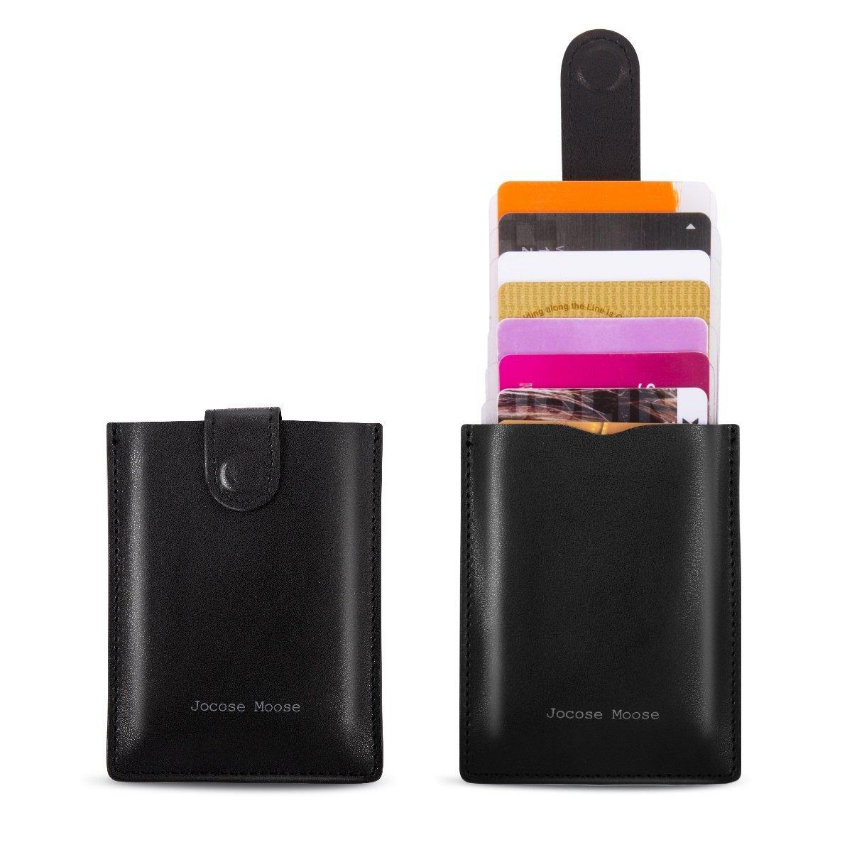 RFID Leder Minimalistische Schlanke Geldbörsen - Kreditkarteninhaber Vordertasche Brieftasche für Männer Frauen
