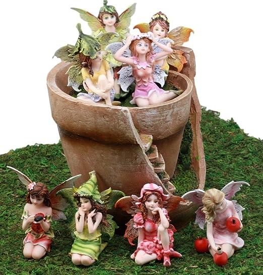 Ebros - Set de figuras decorativas para jardín de hadas en miniatura con diseño de hadas rotas y hadas, con 8 mini hadas, ideal para tu hogar: Amazon.es: Juguetes y juegos