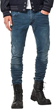 TALLA 30W / 32L. G-STAR RAW 3301 Deconstructed Super Slim Vaqueros para Hombre