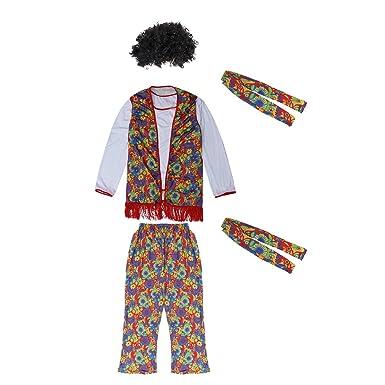 Bestoyard Unisex 70er Jahre 1960er Jahre Kleidung Retro Hippie Men