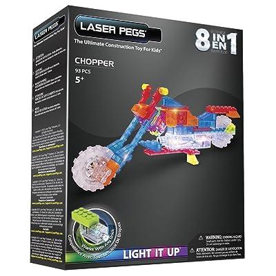 Laser Pegs 8 in 1 Chopper Building Kit: Toys & Games [5Bkhe0201572]