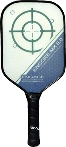 EP Engage Encore MX 6.0 Pickleball Paddle, Standard Weight 7.9-8.3 oz, Thick Core for Control Feel, Built for Power Sweet Spot New for 2020