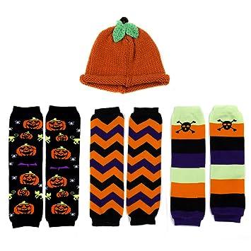 little kid halloween leggings and pumpkin hat set ages 2 4