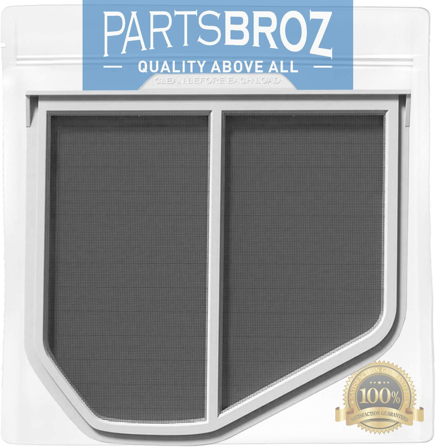 W10120998 Dryer Lint Filter for Whirlpool Dryers by PartsBroz - Replaces AP3967919, 1206293, 3390721, 8066170, 8572268, AH1491676, EA1491676, PS1491676, W10049370, W10120998VP, W10178353, W10596627