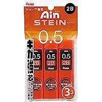 Pentel Ain Stein Mechanical Pencil Lead, 0.5mm 2B, 40 Leads x 3 Pack (XC2752B-3P)