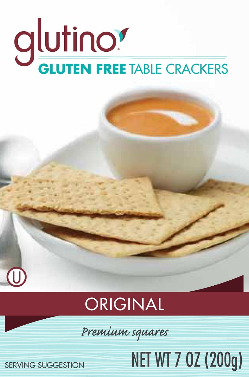 Glutino Crackers, Table, 7-Ounce (Pack of 6) by Glutino