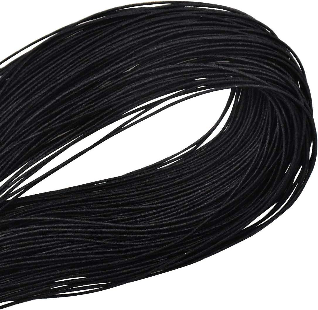 Hilo Elástico Pulseras Hilo se Abalorios Redondo Cordón Elástico de Abalorios Hilo de Perlas Cuerda Elástico Negro Elástica Alambre para Joyeria Fabricacion Pulseras Collares 100m×0,8mm