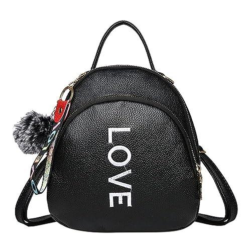 Widewing Mochilas mujer guess Mochila de cuero de la PU de las mujeres de las muchachas adolescentes Mini bolsos de escuela del hombro/negro: Amazon.es: ...