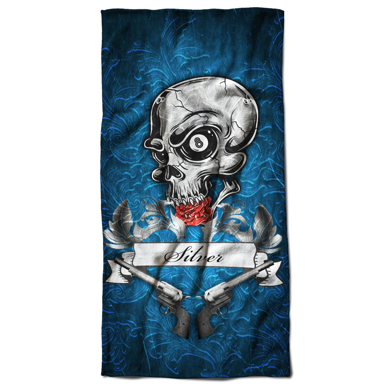 Amazon.com: Gun Cool Crime Gangster Skull Gun Beach Towel 28\