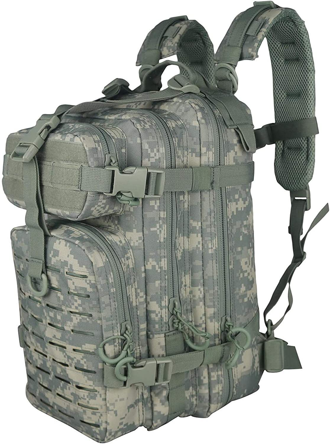 X&X Hiking Daypacks Hydration Pack Tactical Backpack Waterproof for Outdoor Travel Camping School (Bladder no Included)ACU