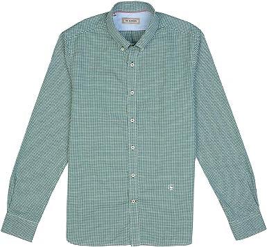 El Ganso - Colección AW19 - Camisa Oxford de Microcuadros - para Hombre - Manga Larga - Cuello de Doble Botón: Amazon.es: Ropa y accesorios
