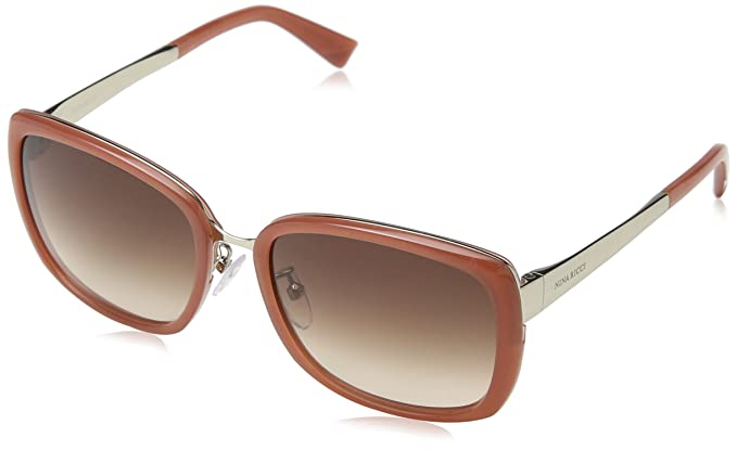 Nina Ricci Damen Sonnenbrille Snr007, Gelb (Shiny Black), Einheitsgröße