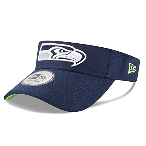 c93c8ddb56c2d Image Unavailable. Image not available for. Color  Seattle Seahawks New Era  2018 Training Camp Primary Visor Navy
