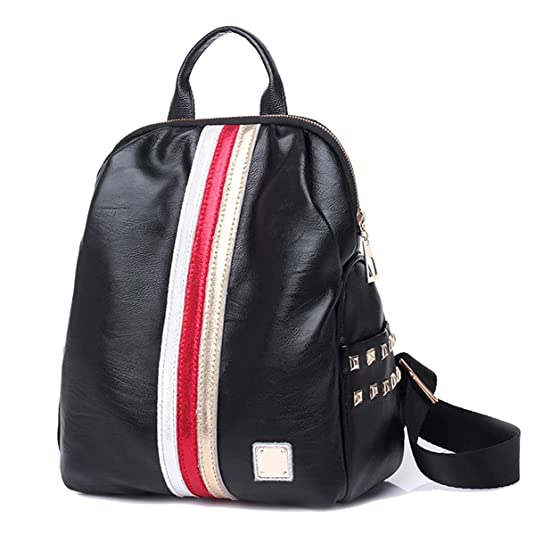 Amazon.com: Coolives Girls Leather Black Small Travel Backpack Best Backpacks for Women Girls: Shoes
