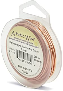 Amazon artistic wire 20 gauge bare copper wire 6 yards artistic wire 18 gauge bare copper wire 10 yards greentooth Image collections