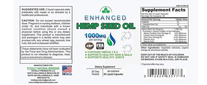 Amazon.com: Cápsulas de aceite de semillas de cáñamo ...