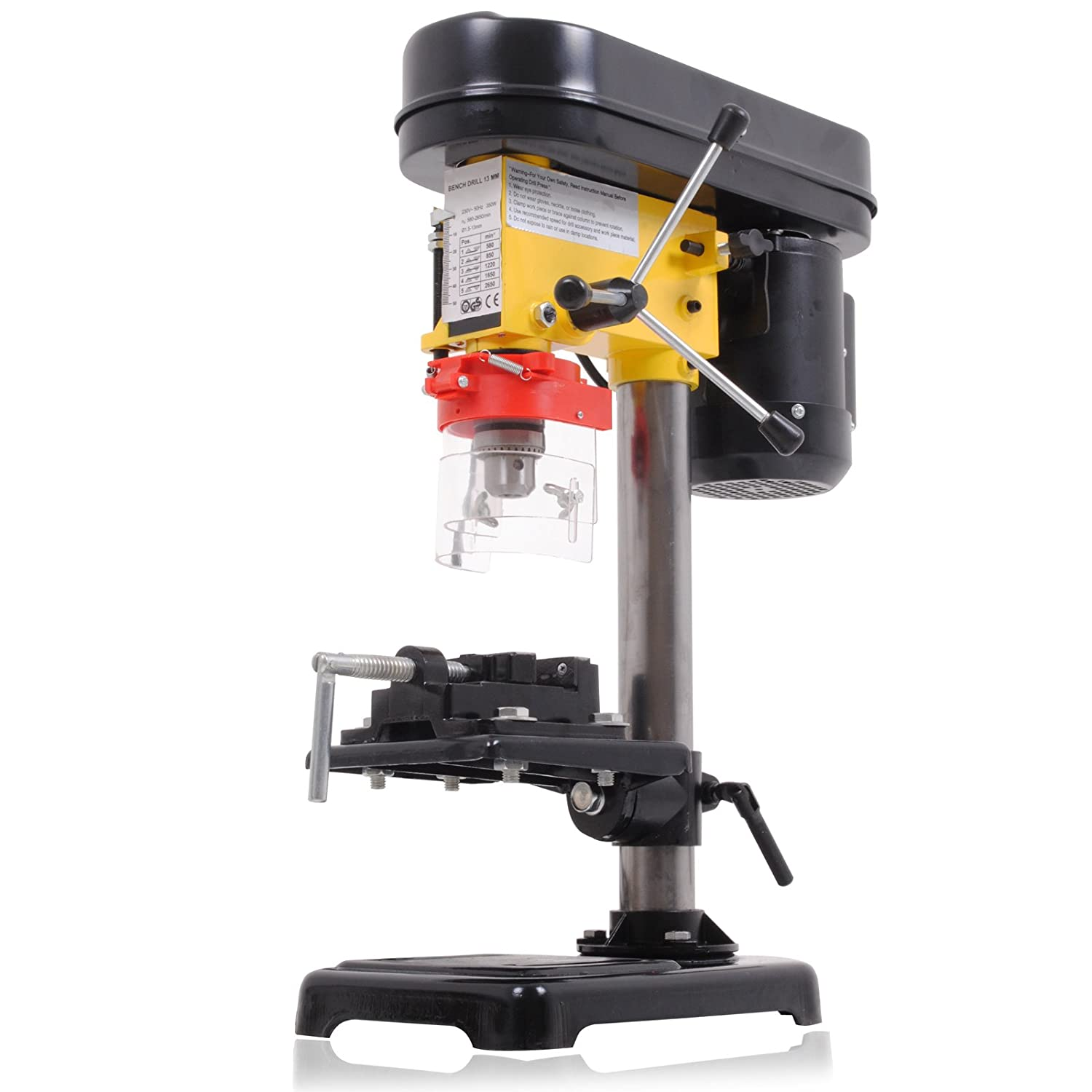 350w Electric 5 Speed Rotary Pillar Bench Table Top Mounted Drilling Drill Press UK-Performance-Parts