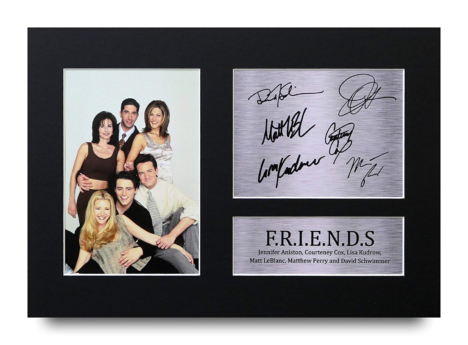HWC Trading Friends Gifts A4Stampa stampato Autograph photo Joey Chandler ROSS Phoebe Rachel Monica immagine display–Great gift idea