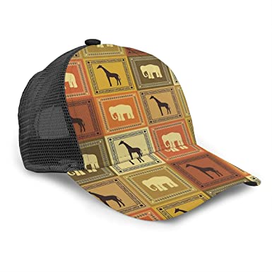 Gorra de béisbol Unisex con diseño de Animales africanos, Marco de ...