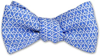 product image for Josh Bach Men's Peace Sign Self-Tie Silk Bow Tie, Made in USA