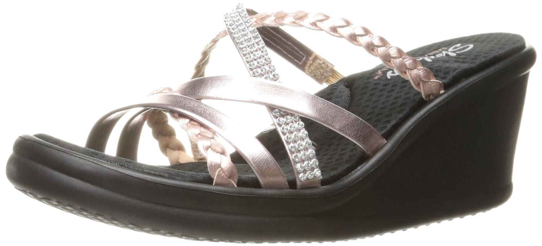 4b804a48cea6 Skechers Cali Women s Rumblers Wild Child Wedge Sandal  Amazon.ca  Shoes    Handbags