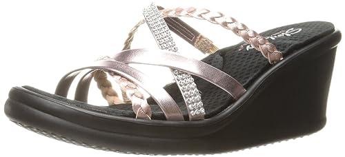 32800c84bc7c Skechers Cali Women s Rumblers Wild Child Wedge Sandal  Amazon.ca ...
