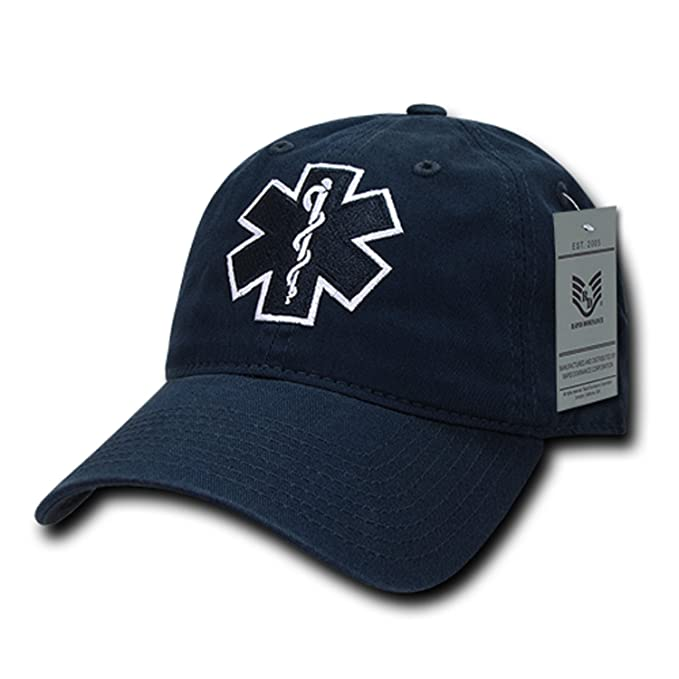 Image Unavailable. Image not available for. Color  Emergency Medical  Technician EMT Cross EMS Paramedic Polo Relaxed Baseball Cap Hat a60ae7a7e1ff