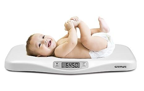 G3 Ferrari Crescobene Blanco - Báscula para bebés (CR2032, Litio, 3 V,