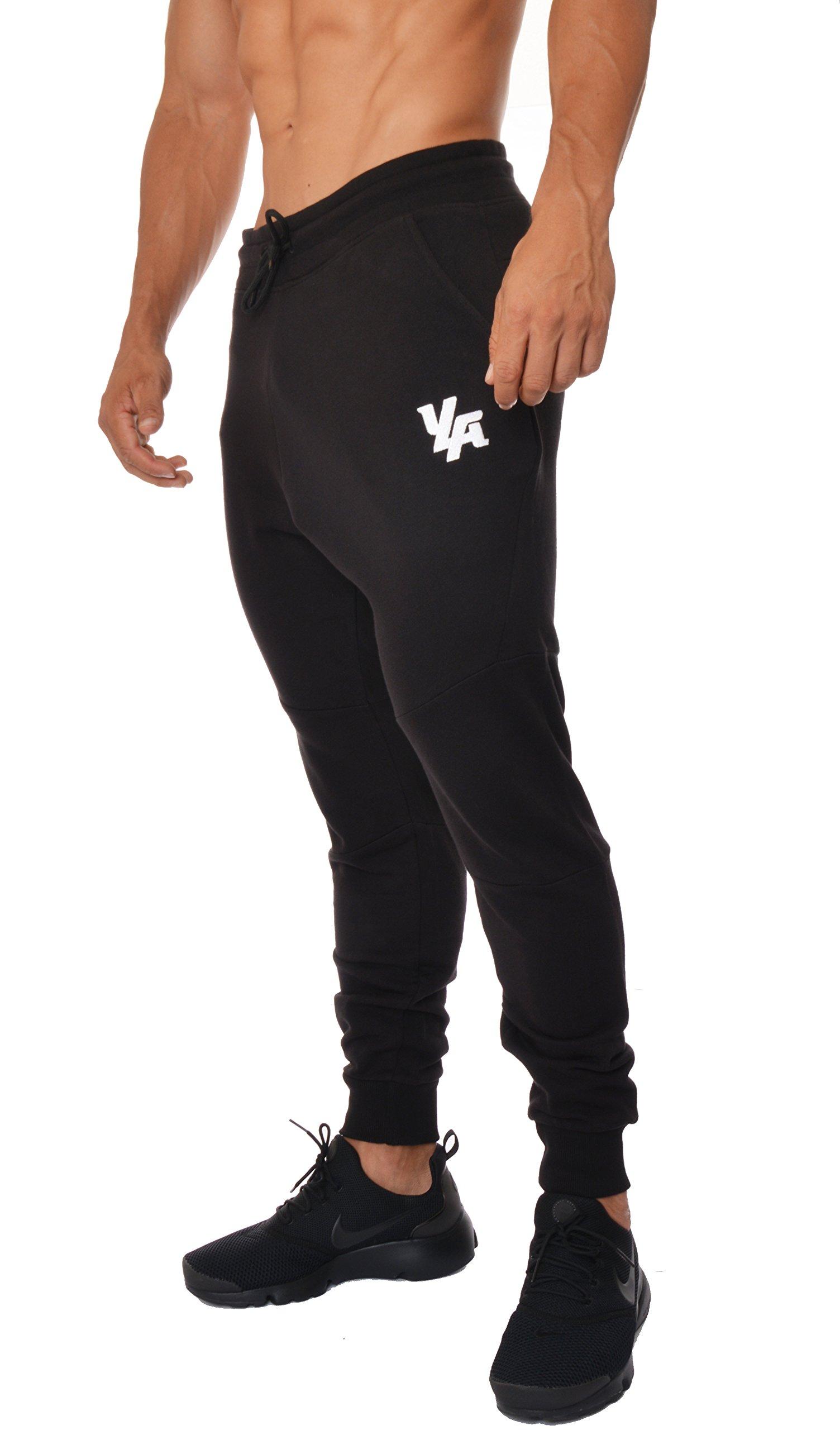 YoungLA French Terry Cotton Sweatpants Jogger Pants Black XX-Large