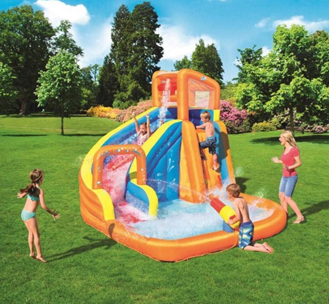 Diapositiva inflable verano de los niños pequeños de agua Piscina para niños Zona de juegos de agua con aspersores, Océano bola de jugar al juego de la piscina, para Patio Beach Garden