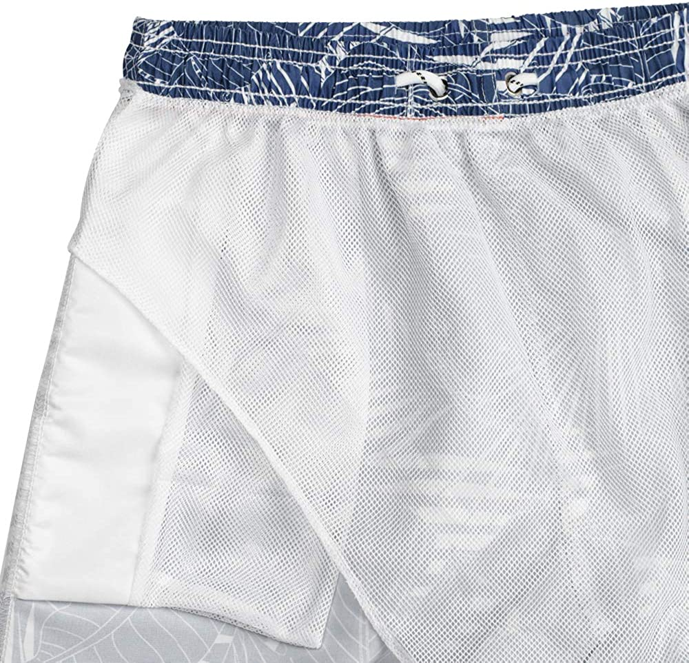 QBSM Mens Quick Dry Swim Trunks Beach Board Shorts Bathing Suits with Mesh Lining