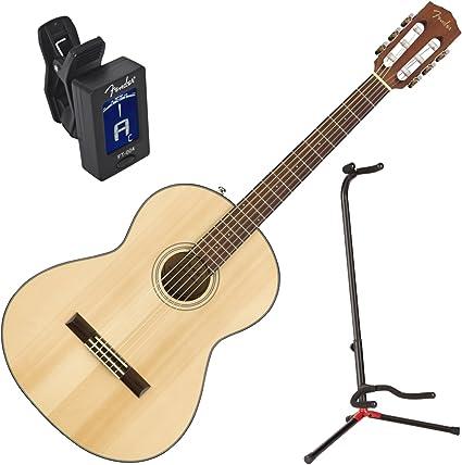Fender 0961714021 cn-60s Nat guitarra acústica w/stand y ...