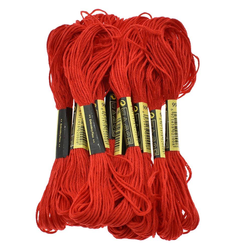 Kesheng Six Strand Cross Stitch Embroidery Floss Thread 8.7 Yards - White 12Pcs