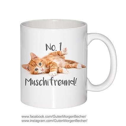 Becher Katze No1 Muschifreund Tasse Spruch Guten Morgen