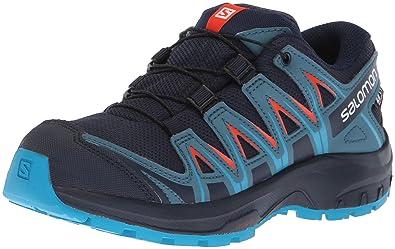 Salomon Kids XA Pro 3D CSWP J, Trail Running Shoe, navy blazer / mallard