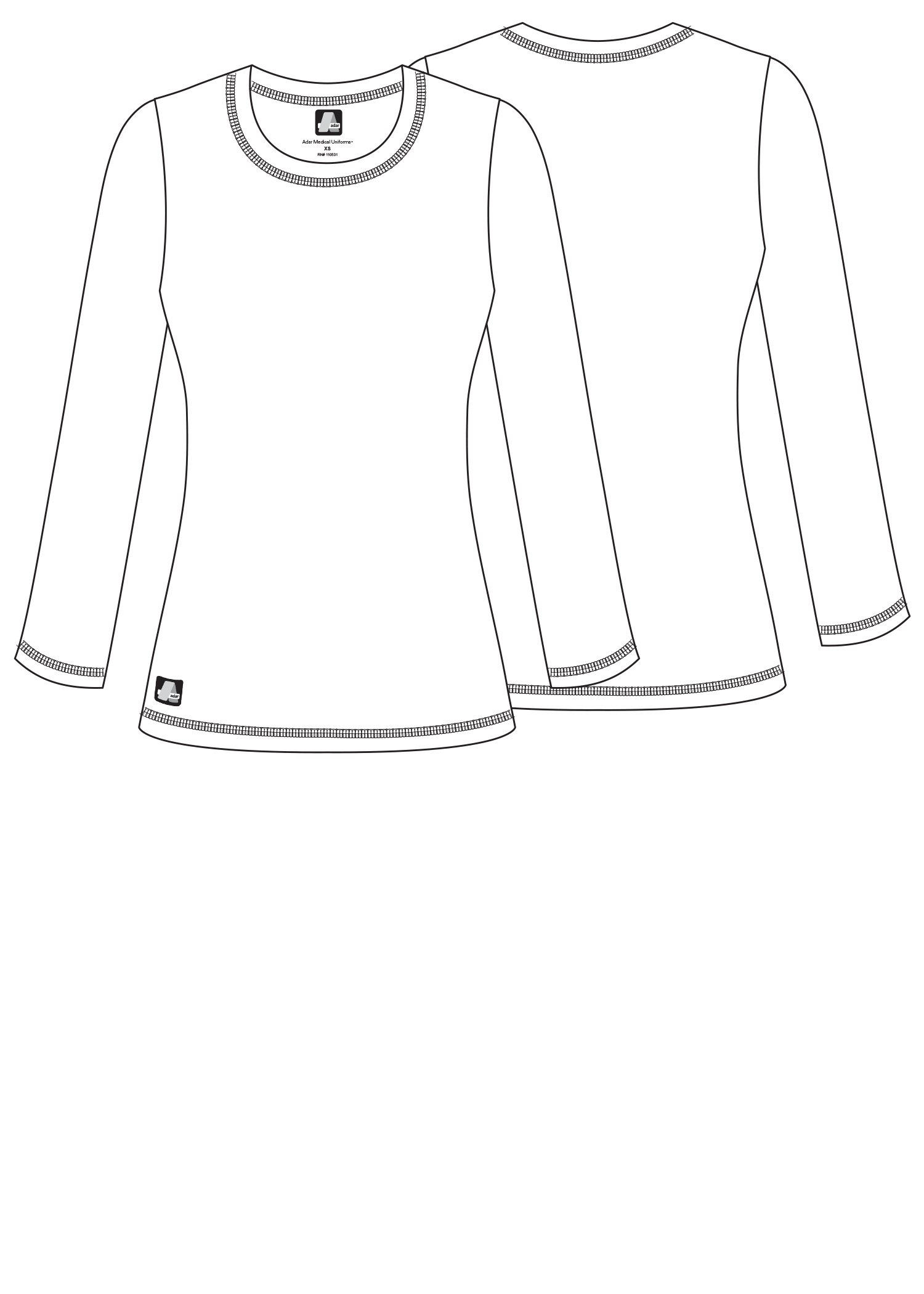 Adar Womens Comfort Long Sleeve Fitted T-Shirt Underscrub Tee- 3400 - Royal Blue - L by ADAR UNIFORMS (Image #6)