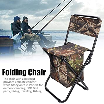 Travel,Beach Fishing Bnineteenteam Camping Stool,Folding Camping Stool with Backrest for Camping,Hiking BBQ
