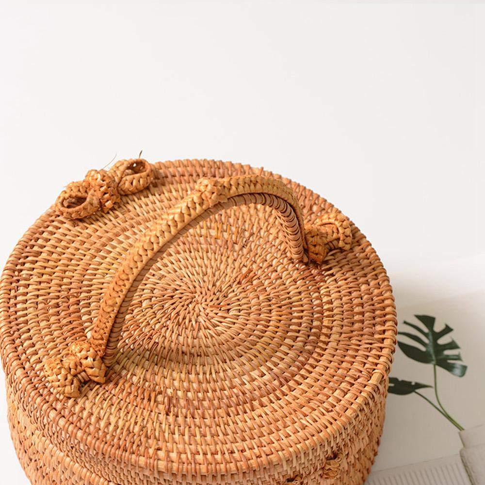 Amazon.com: Teepao - Bolsa de ratán para mujer, hecha a mano ...