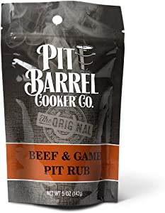 Pit Barrel Cooker PR005BG Beef and Game Beef & Game Pit Rub 5 oz. Bag, One Size