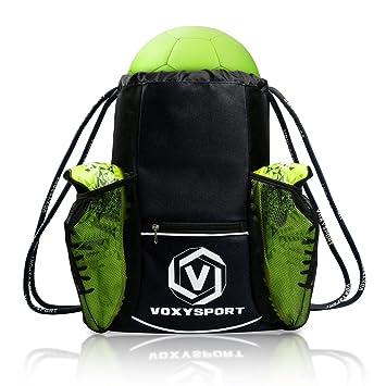 Nofonda Fussball Rucksack Mit Schuhfach Ballbeutel Kordelzug Sporttasche Multifunktion Training Tasche Fur Schuhe Wasserflaschen Schutzer