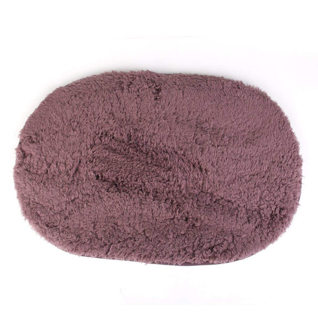 Deserve to Buy Absorption Bath Mat Soft Floor Rug Bedroom Cozy Shaggy Rug Oval Living Room Carpet (Purple)
