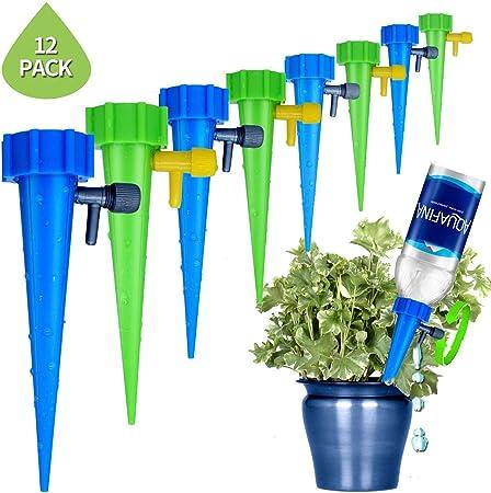 Xndryan 12/confezione vaso di fiori irrigazione automatico dispositivo con valvola di irrigazione a goccia vacanza d irrigazione attrezzi per casa ufficio piante