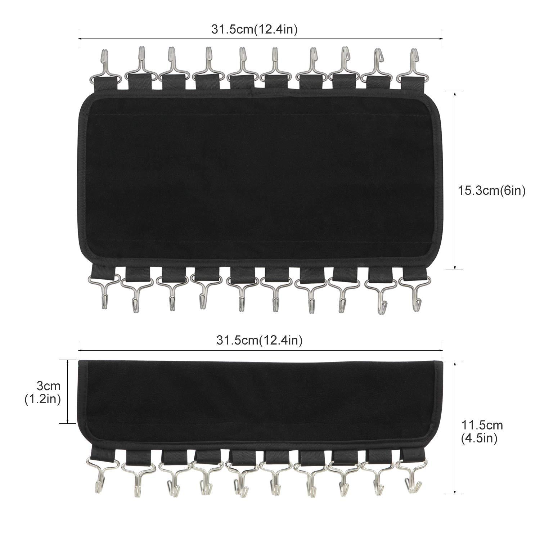 DOIOWN Belt Hangers 2 Pack Tie Black-Belt/&Scarf Organizer Hanger, 2 Scarf Organizer Hangers Hook Rack Space Saving Hangers Closet Organizer