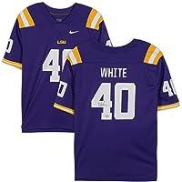 $187 » Devin White LSU Tigers Autographed Nike Purple Game Jersey - Fanatics Authentic Certified - Autographed College Jerseys