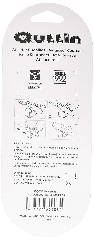 Compra Quttin 57728 Afilador Cuchillos Dos Filos, Acero en ...
