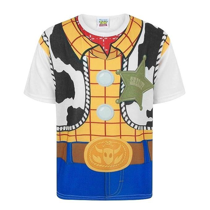 88ca41684 Toy Story Disney - Camiseta Disfraz de Woody Personaje niños  Amazon.es   Ropa y accesorios