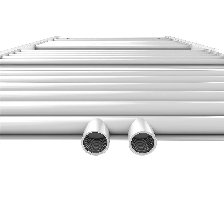 WELMAX Antrazit BadHeizk/örper 60 x 160 cm Handtuchtrockner Bad-Heizk/örper Handtuchheizk/örper Mittelanschluss Heizung 934 Watt Leistung Handtuchw/ärmer