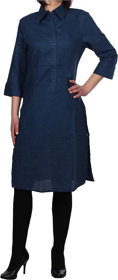 Jobeline - Camisas - Manga Larga - para mujer azul 38: Amazon.es: Ropa y accesorios