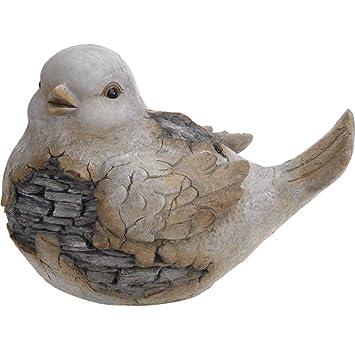 Gartenfigur Vogel Gross 38x27x25cm Keramik Figur Dekofigur Gartendeko